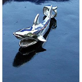 Cadena Y Dije De Tiburon En Plata Fina Ley.925
