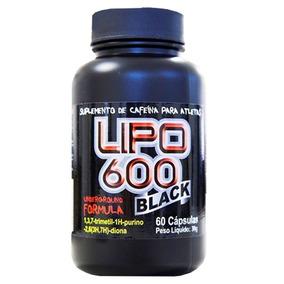 Lipo 600 Black 60 Caps - Definição Abdominal - Extra Forte