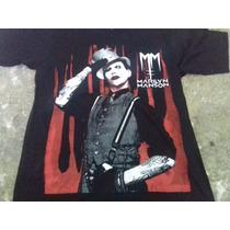 Playera, Marilyn Manson, Serigrafia, Talla M