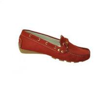 Zapato Casual Full Time Bajos Para Damas Color Rojo