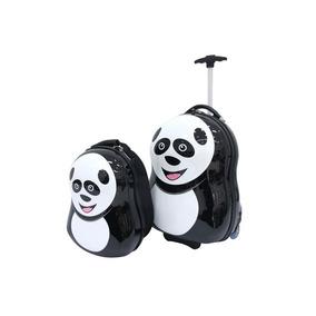 Set Valija Con Mochila Infantil Panda 16 Y 12 Pulgadas
