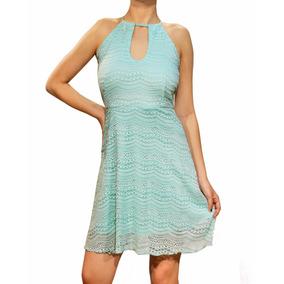 Vestido De Encaje Con Escote Halter, Mujer, Brishka M-0098