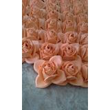 Flores De Goma Eva Sin Tallo Y Sin Hoja X 100 (solo La Rosa)