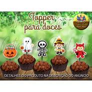 50 Topper Tags Para Doces Halloween Dia Das Bruxas