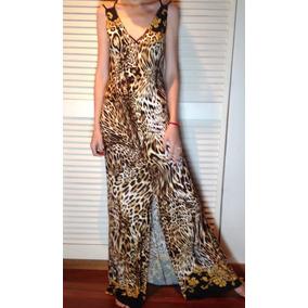 Vestido Largo Adictive Cavalli,seda Fría.estampaexclusiva