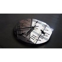 Reloj Romano Redondo + Diseño Gatos De Acero Inoxidable 30cm