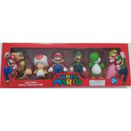 Super Mario Bros Figure Especial Coleção 6 Bonecos Grandes