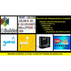 Eberick + Hydros + Lumine + Qibuilder + Cypecad 2017 + Pini