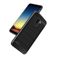 Funda Carbono Rugged Para Samsung A6 2018