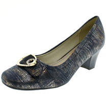 Sapato Scarpin Mooncity Azul Marinho Salto Baixo 5cm