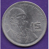 Moneda Mexico Un Peso Acero Morelos 1985 C14
