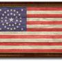 Revolutionary War 34 Stars Military Textured Flag Print, 19