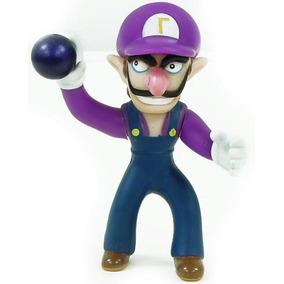Muñeco Pvc Waluigi Super Mario Bros 4pulgadas (10cms)