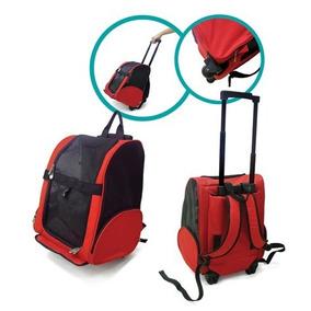 Bolsa De Transporte Com Rodinhas Cães 52cm Vermelha Ou Azul