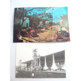 2 Cartão Postal Antigos!!! Brasilia Fusca Fuscão Volkswagem