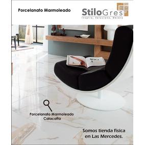 Porcelanato Marmoleado Blanco Carrara 60x60 Brillante