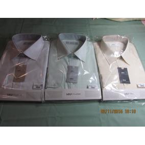 3 Camisa Raphy Ref.52132mlonga Work Tam.47(7)branc,palha/lun