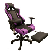 Silla Pc Gamer 06 Violeta 2 Almohadones/apoyapies