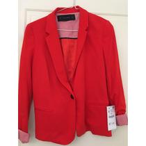 Zara Blazer Rojo Talle M