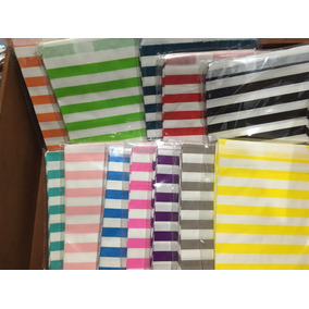 Bolsas De Papel De Colores Horizontales, Zigzag, Círculos