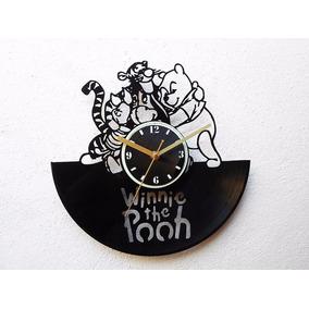 Reloj Disco Vinilo Vinil Acetato Lp Winnie Pooh