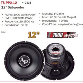 Subwoofer Audio Pipe 12 1000 Watts Ts-pp2-12 - Mdr Express