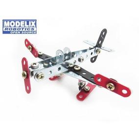 Avião Bimodelo Brinquedo De Montar Robótica - Modelix 201