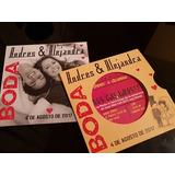 Tarjeta Invitacion Boda Evento Disco Vinilo Original