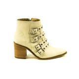 Zapato Lucerna Bota Cuero Hueso Tiras