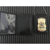 Carteira/distintivo E Corrente Policia Civil Frete Gratis