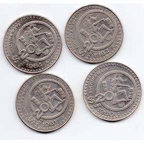 Colección Moneda Veinte Pesos Cultura Maya 1980 1984 6