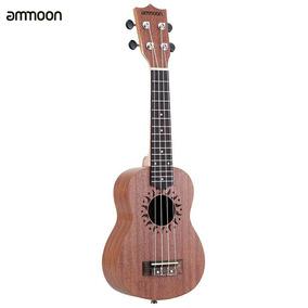 Ammoon Ukelele Acústico 4 Cordas, Hawaii Guitarra Musical. (
