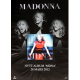 Poster Madonna Publicidad Mdna