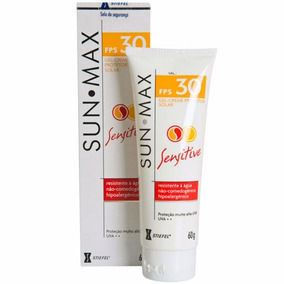 Sunmax Fps 30 Gel Creme Sensitive Resistente A Agua 60g
