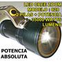 Super Linterna Tactica Led Cree Recargable Zoom 70000 Lumens