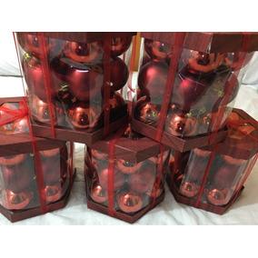 Kit Árvore De Natal 21 Bolas Vermelhas 7cm Enfeites De Natal