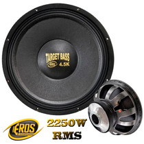 Woofer Eros Target Bass 4.5k 15´´ Polegadas 2250w Rms 4 Ohms