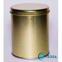 Bote Con Int Y Ext Dorado Tapa Sobre Puesta (7.6 X 9.5 Cm)