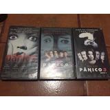 Trilogia Pânico 1, 2 E 3 Vhs Suspense Original Legendado