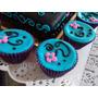 12 Cupcakes Decorados Cumpleaños, Bautismo, Baby Shower
