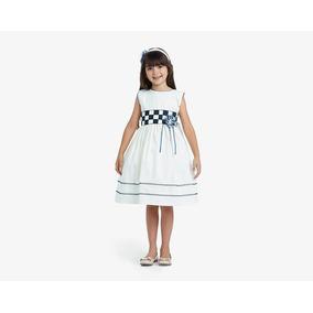 Vestido Garfito Girls Beige Pr-4574612
