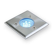 Spot Led Embutir Piso Cuadrado 0,6w 220v Apto Intemperie Ip54 Marca: Candil Ideal Iluminacion Deck Parques Jardin Patio