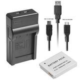 Nb-6l Usb Battery Charger Kit Para Cámaras Digitales...
