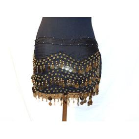 Caderín Negro 158 Monedas Doradas. Para Danza Arabe
