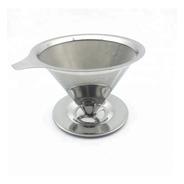 Filtro Café, Té, Mate Reutilizable, Acero Inox. Grande C/pie