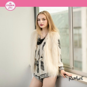 Chaleco Mujer De Piel Imitación / Moda Coreana| Corea Chic