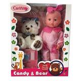 Muñeca Candy Y Bear Llora De Verdad C/oso Original Cariñito