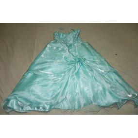 Vestido verde agua marina para ninas