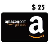 Amazon Gift Card 25 Dolares Usd Prepago Gift Card Prepaid