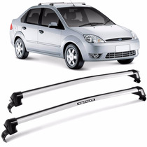 Rack Teto Fiesta Hatch Sedan 2003 A 2013 Eqmax Wave Prata